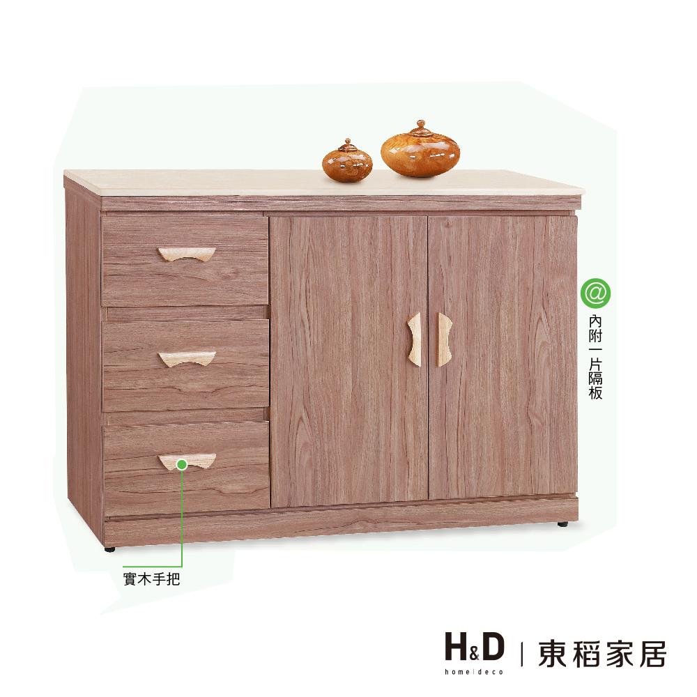 雷姆斯柚木4尺碗盤櫃/餐櫃下櫃