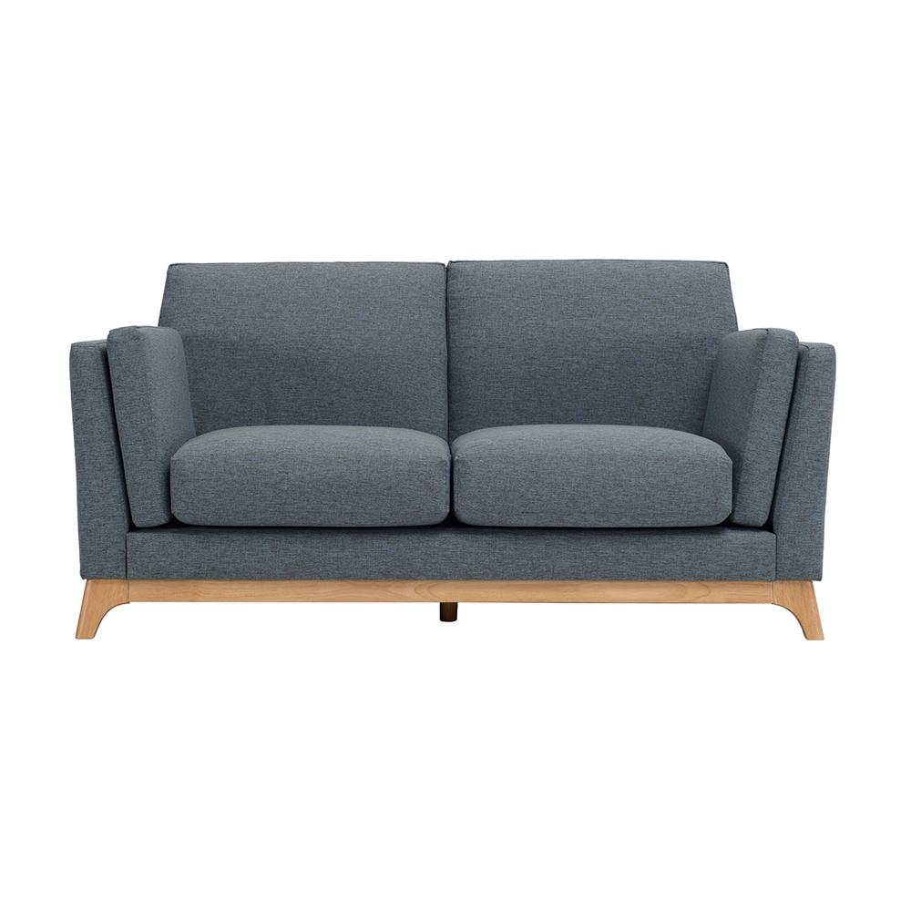 CENI塞尼北歐簡約藍灰色雙人沙發