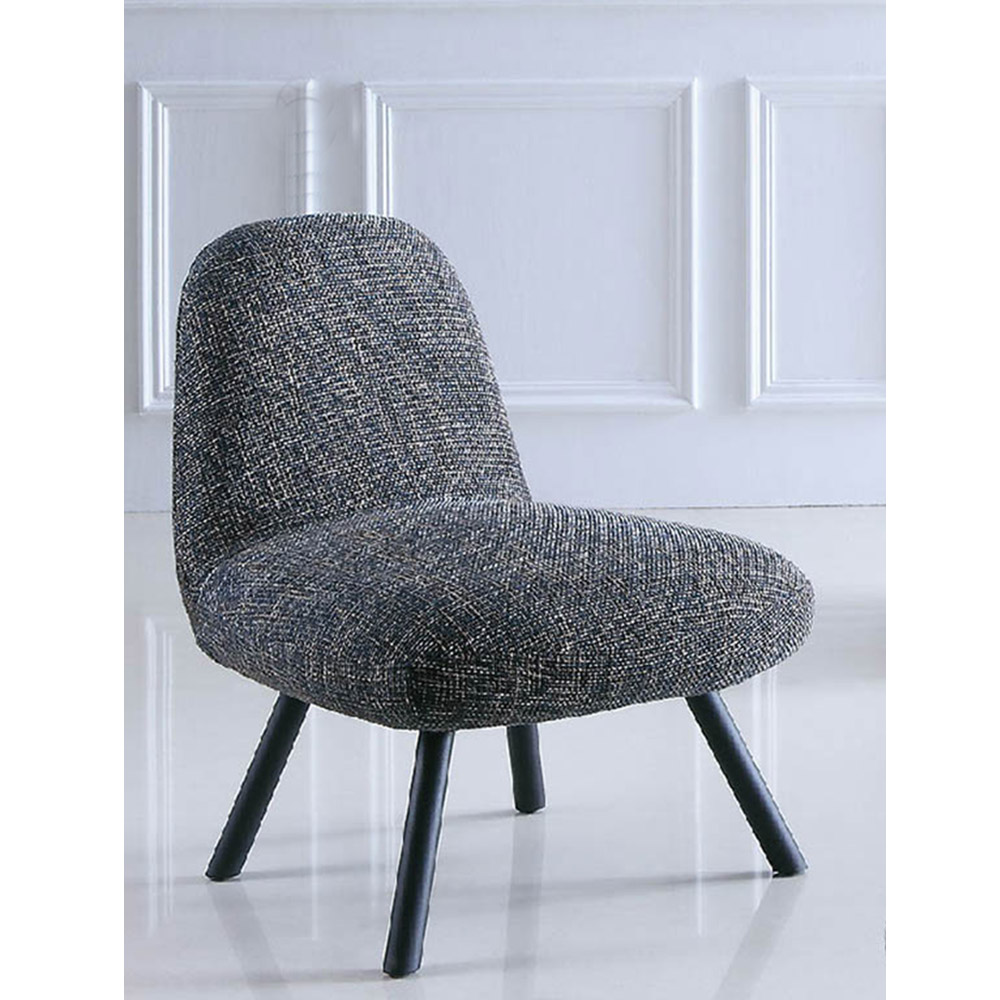 低調品味鐵灰紋休閒椅