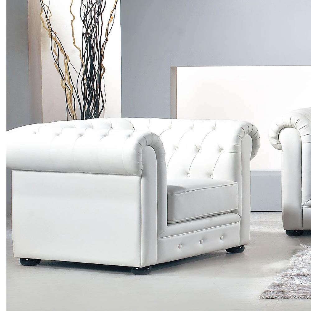新古典愛紗純白單人沙發