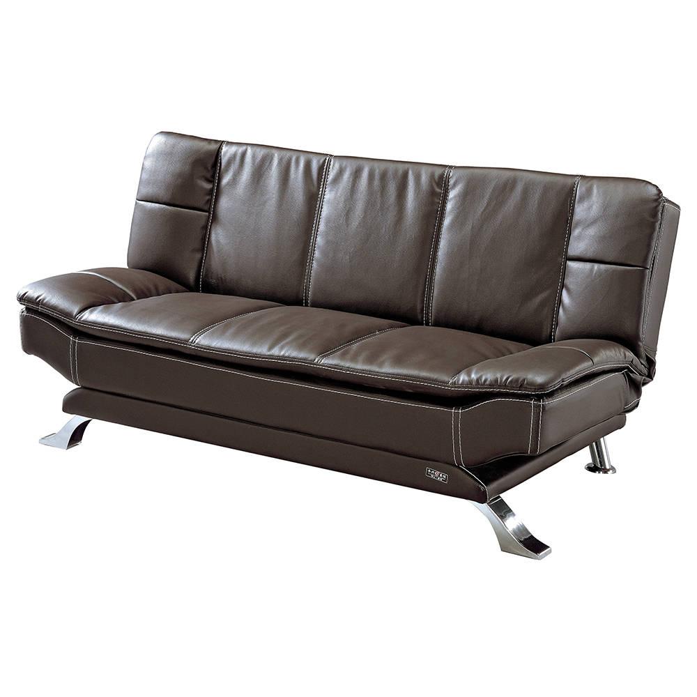 蒙派克咖皮沙發床
