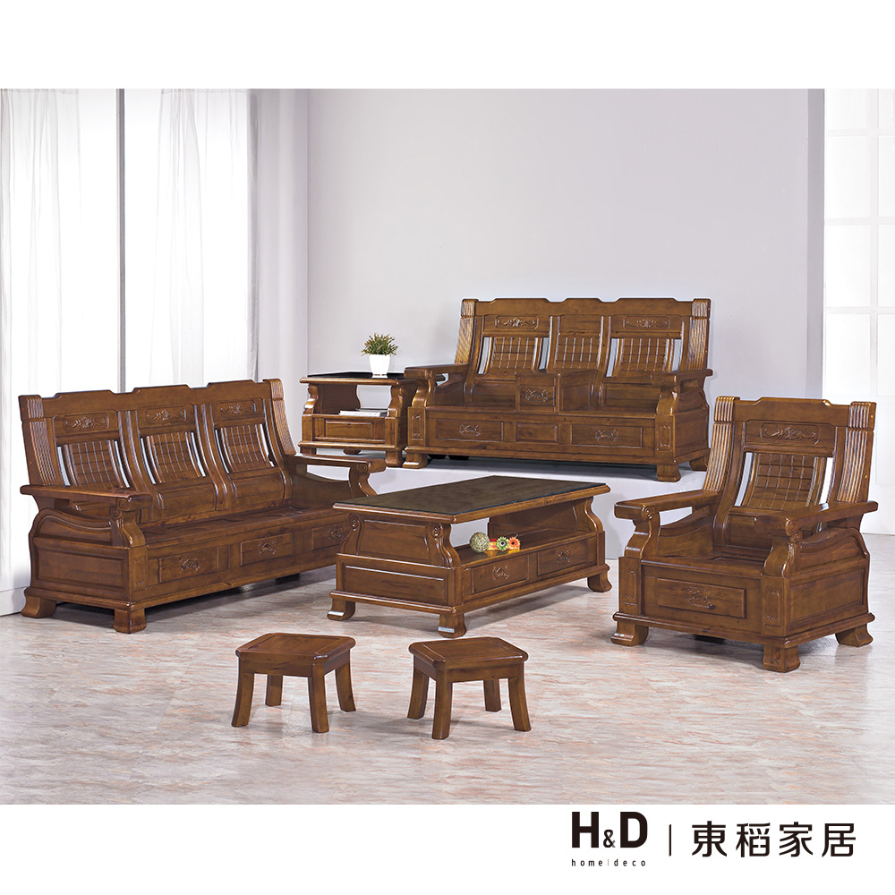 樟木實木板椅組