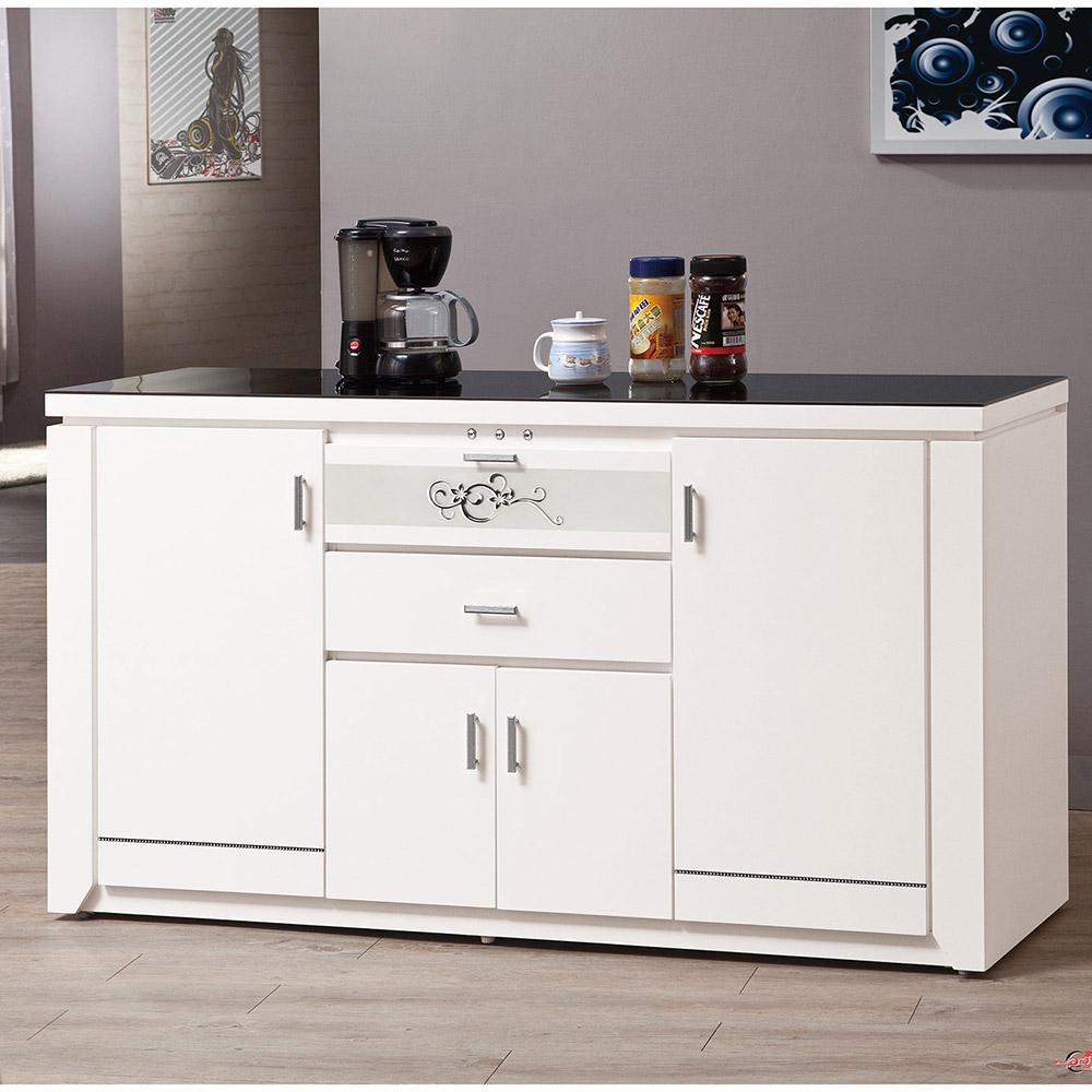 魯邦白色5尺餐櫃