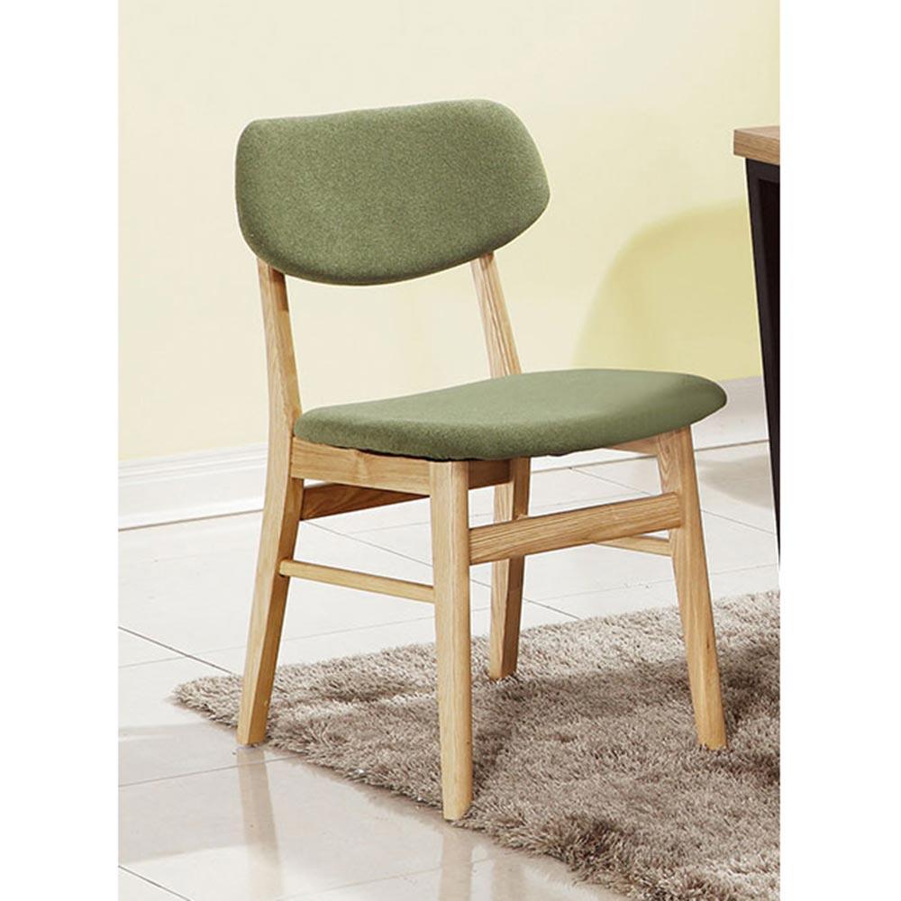 朵特栓木綠色布餐椅