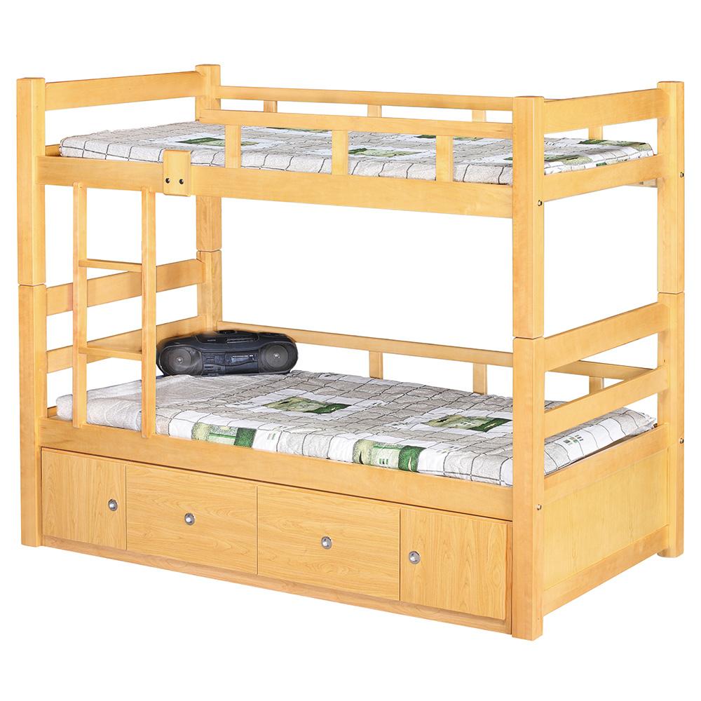 白楓木3.7尺雙層床(含收納櫃)