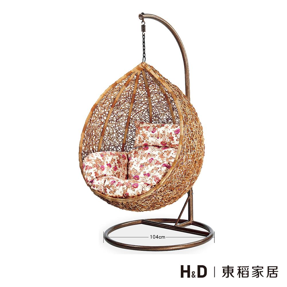 真藤製吊籃單人休閒椅-D