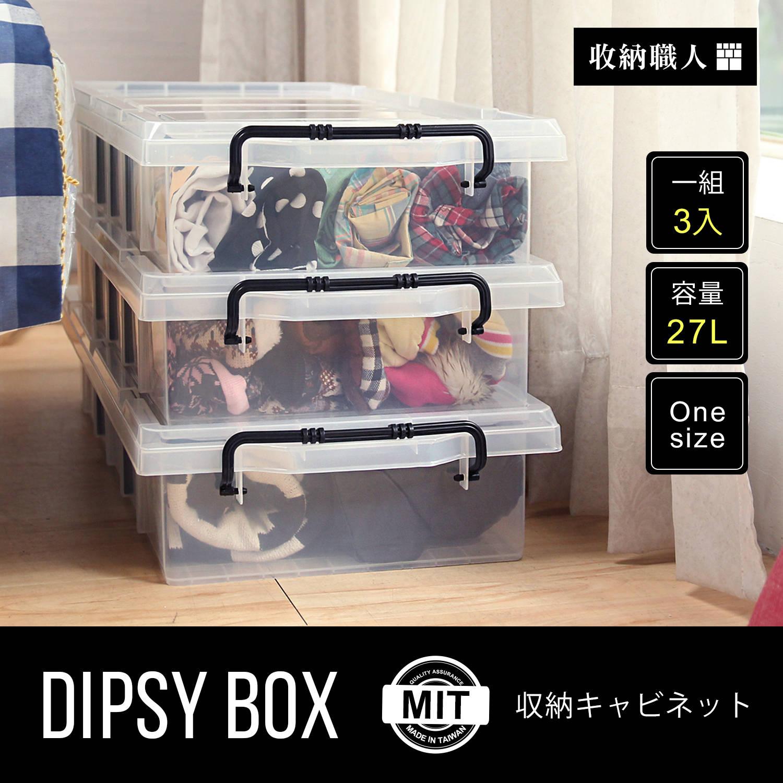 【收納職人】DIPSY 狄西透明六格分類收納箱/床底整理箱。三入組
