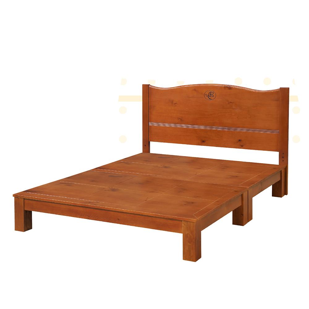 瑪格6尺雙人加大床組(床頭片+床底)