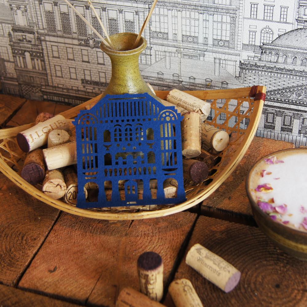 【福來許】迪化老街杯墊-洋樓(藍)