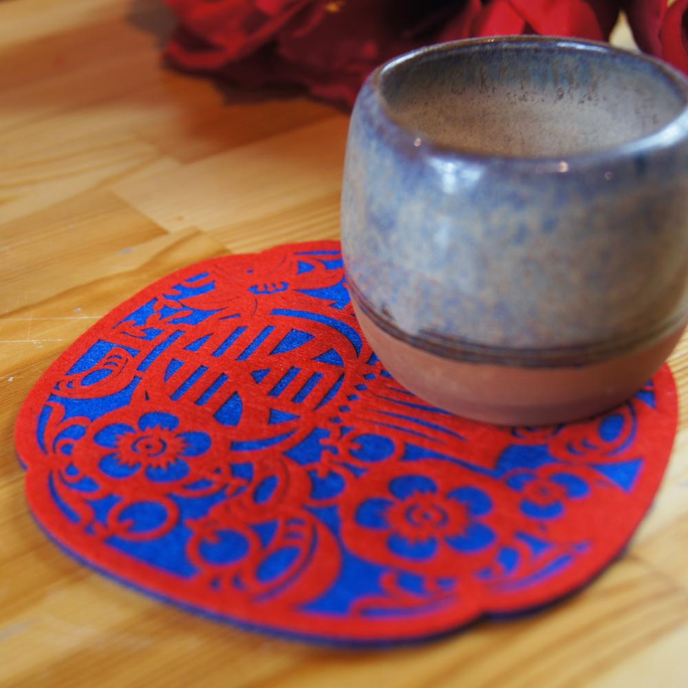 【福來許】納福系列杯墊-百柿大桔(春)