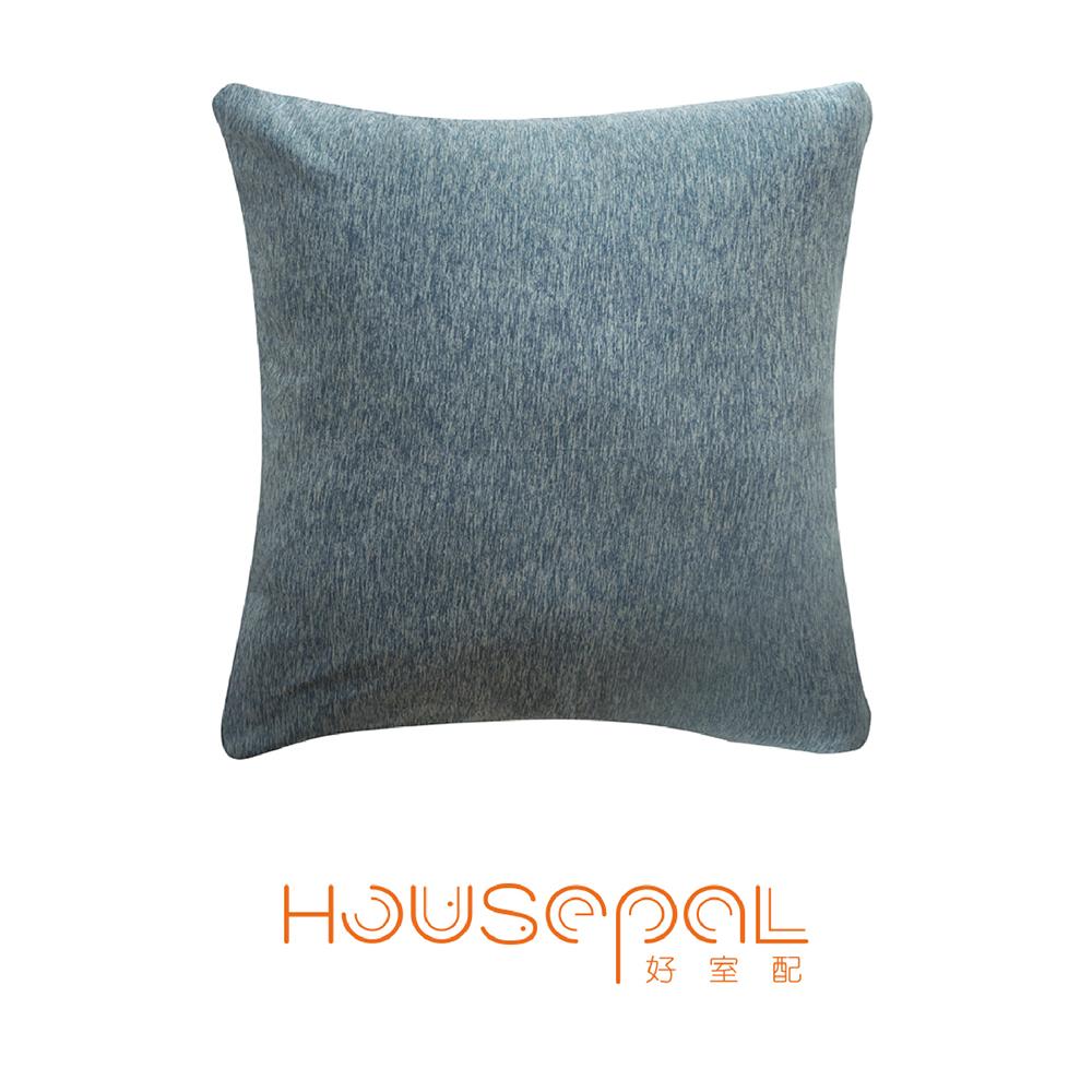 Zuri柔禮雙色平紋針織立體剪裁彈力沙發靠墊(抱枕用)(鋼藍色)