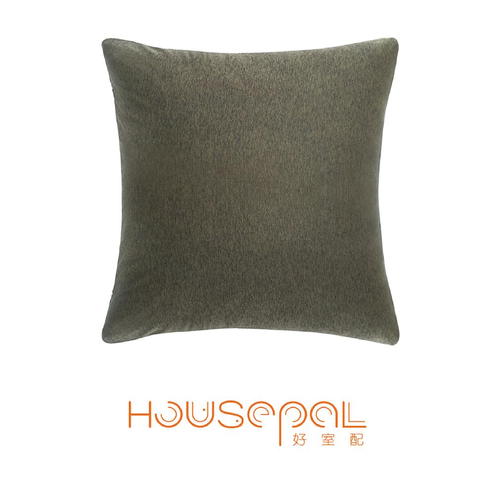 Zuri柔禮雙色平紋針織立體剪裁彈力沙發靠墊(抱枕用)(咖啡色)