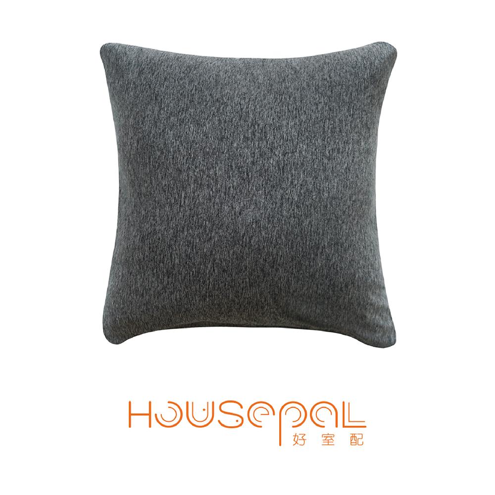 Zuri柔禮雙色平紋針織立體剪裁彈力沙發靠墊(抱枕用)(黑色)