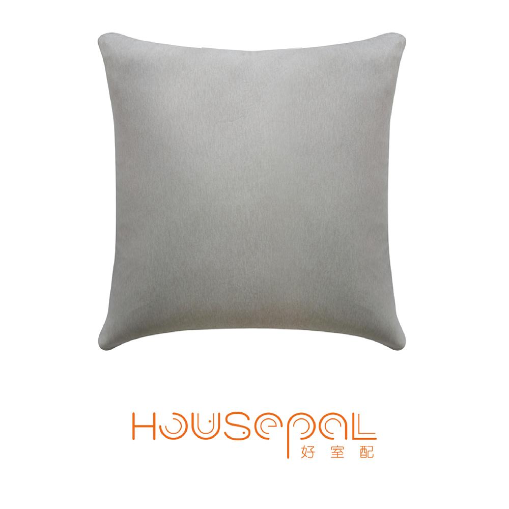 Zuri柔禮雙色平紋針織立體剪裁彈力沙發靠墊(抱枕用) (暖灰色)