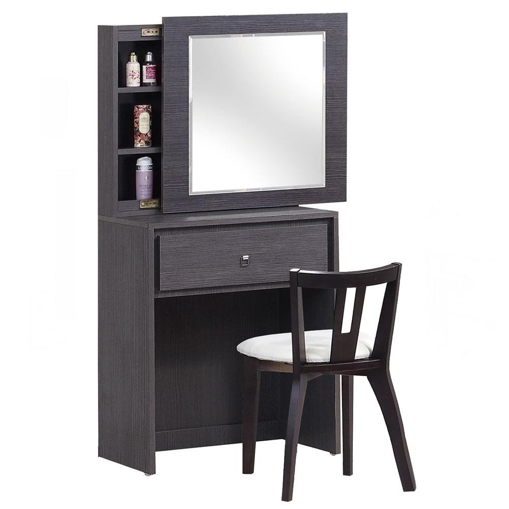 諾亞2.3 尺鐵刀化妝鏡台組(含椅)