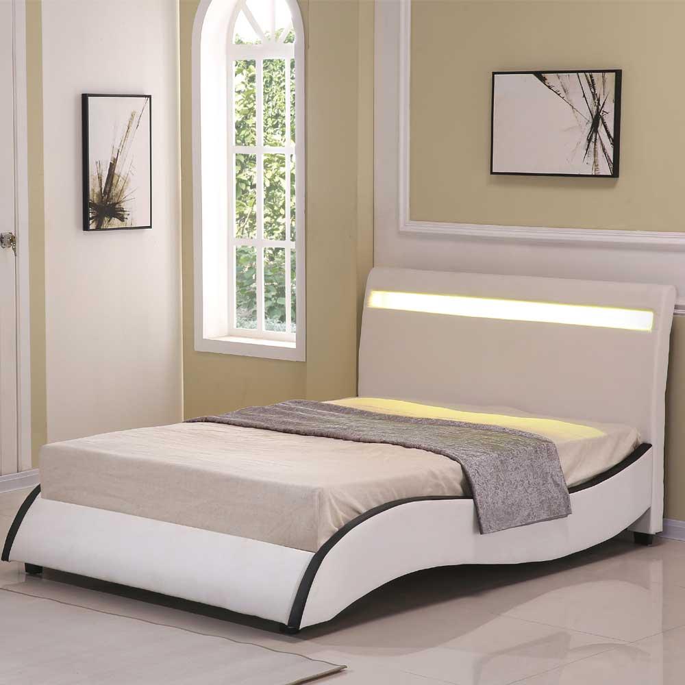 安琪拉5 尺米白皮雙人床
