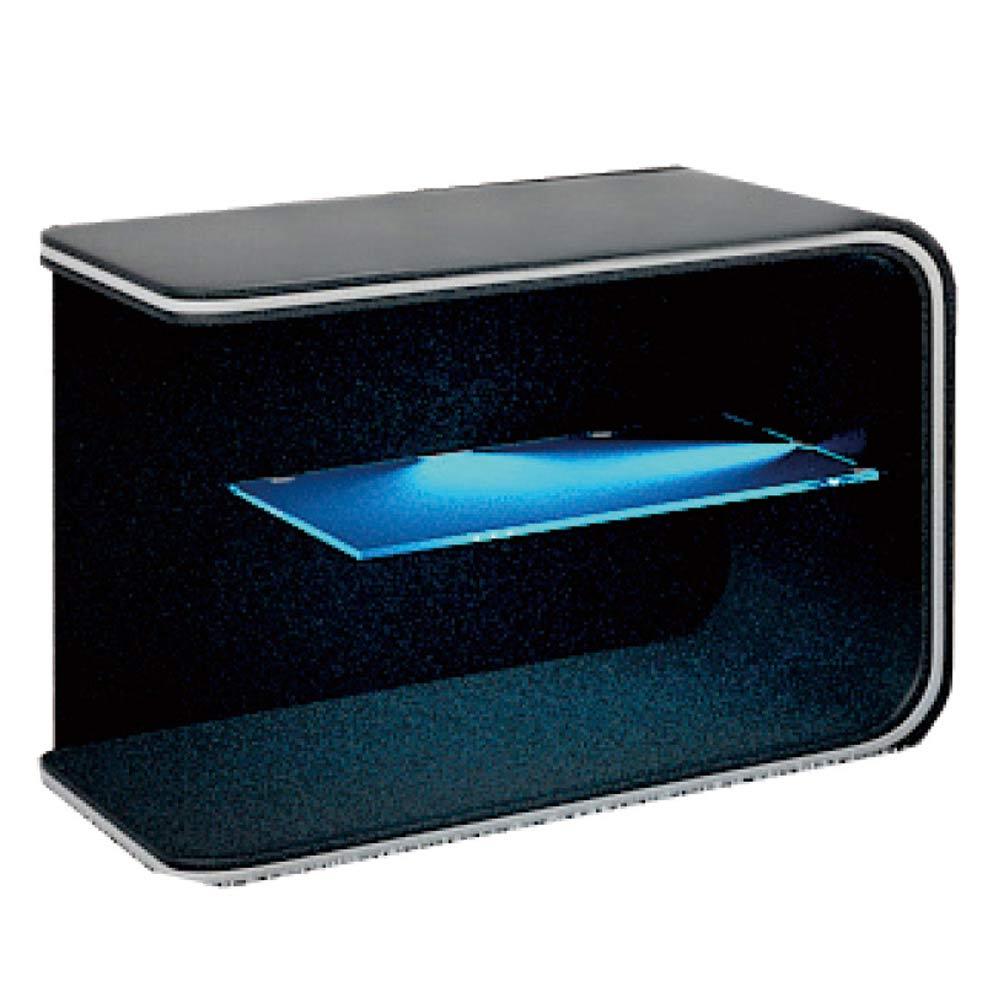 保羅黑色LED 床頭櫃