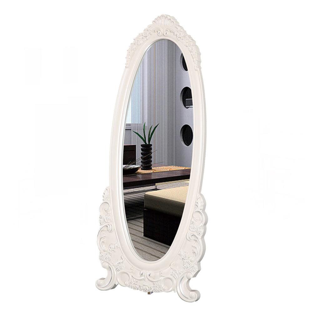 海倫娜2.3尺象牙白穿衣鏡