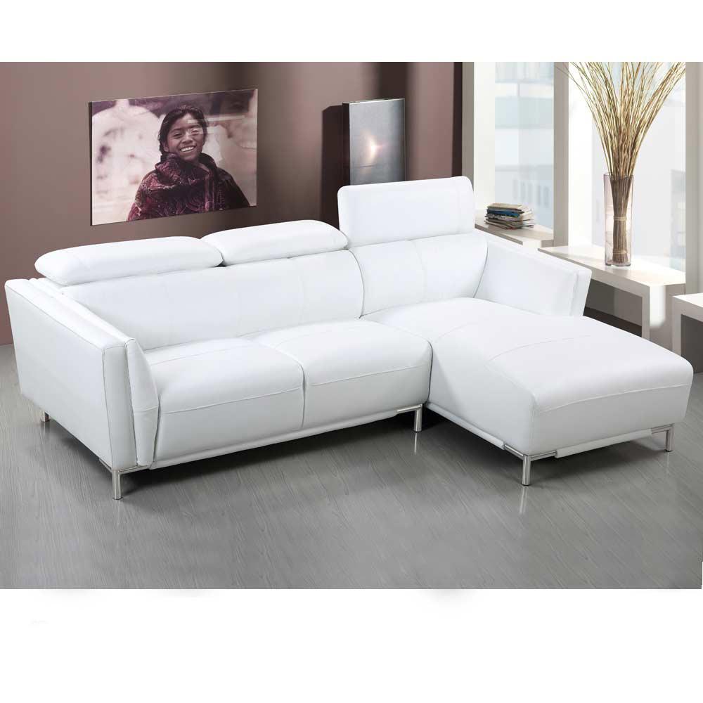 卡米爾L 型白皮沙發—左L
