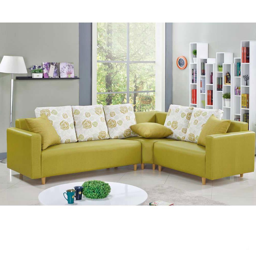 維納斯L 型綠皮沙發—左L