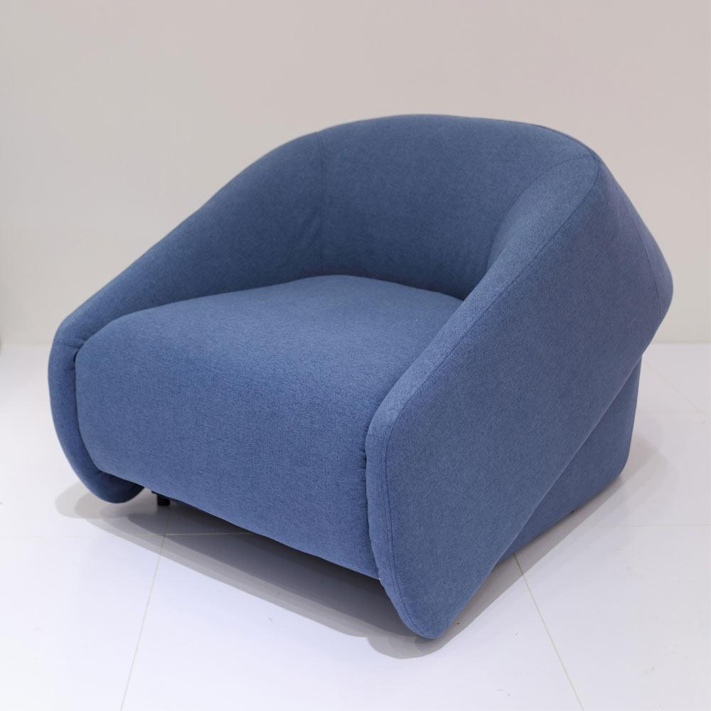 海倫藍色單人沙發床