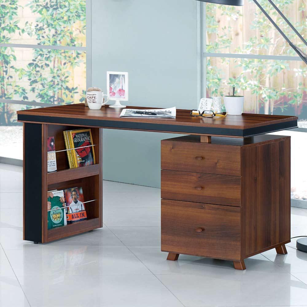 杰羅姆4尺胡桃電腦桌