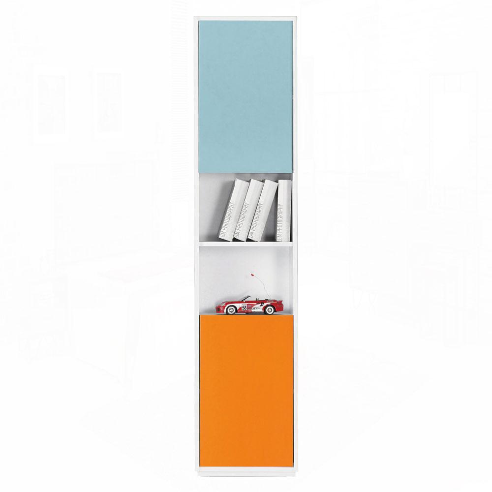 布拉格1.35尺彩色二門中空書櫃