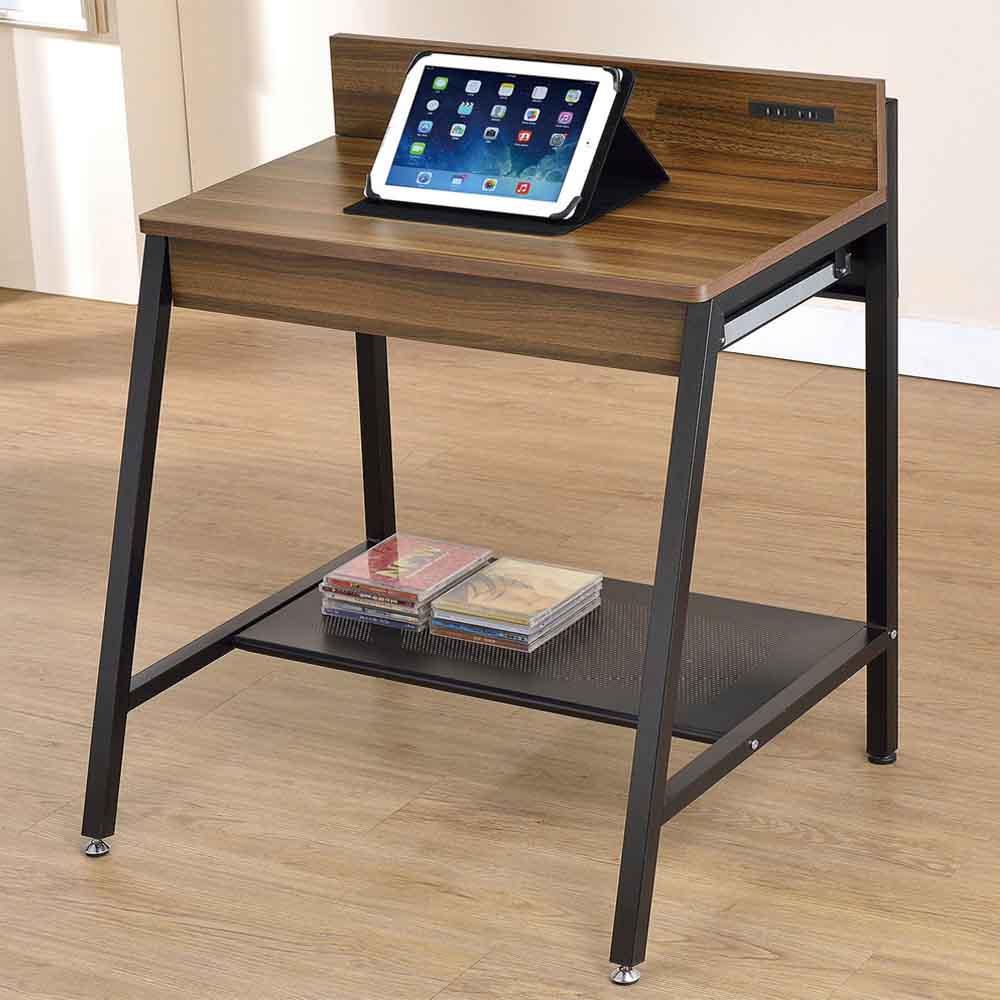 小賈2.1尺胡桃兩用電腦桌