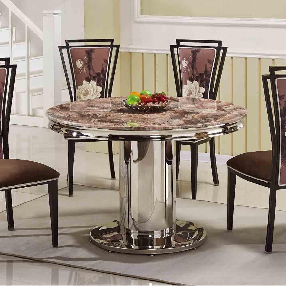 富貴4 尺石面圓形餐桌