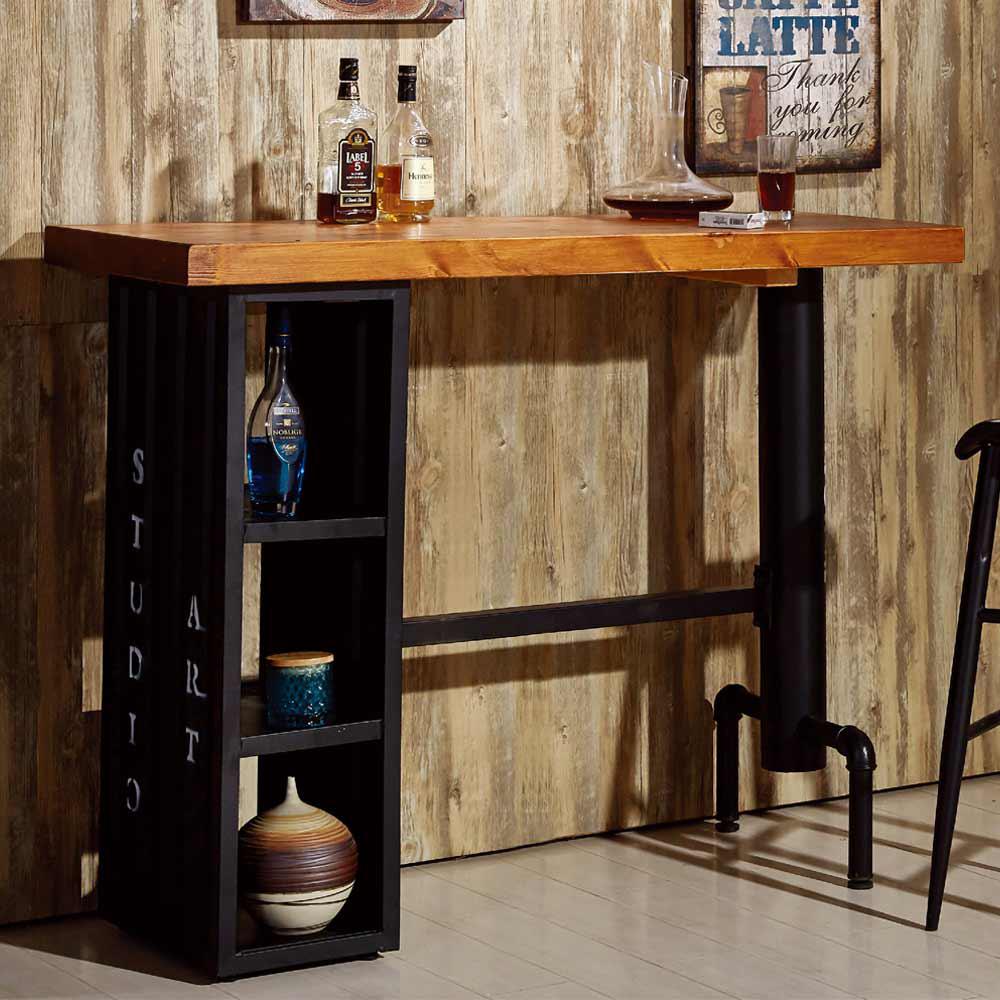 庫克4.6 尺貨櫃造型吧台桌