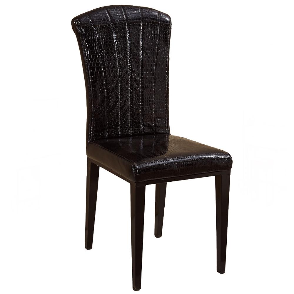 史提芬黑皮餐椅