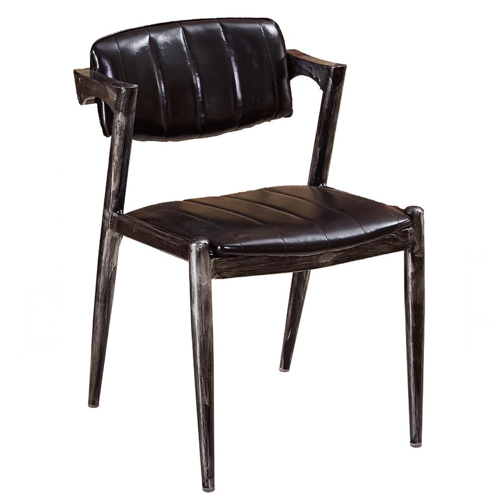 喬絲黑皮仿舊餐椅
