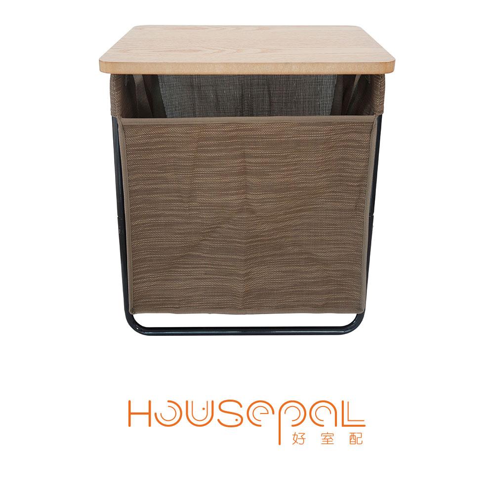 3WAY隨行袋收納桌(NYLA木紋棕)-木色桌板