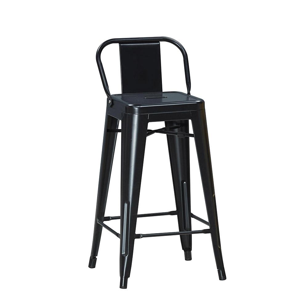 工業風高吧台椅-黑色