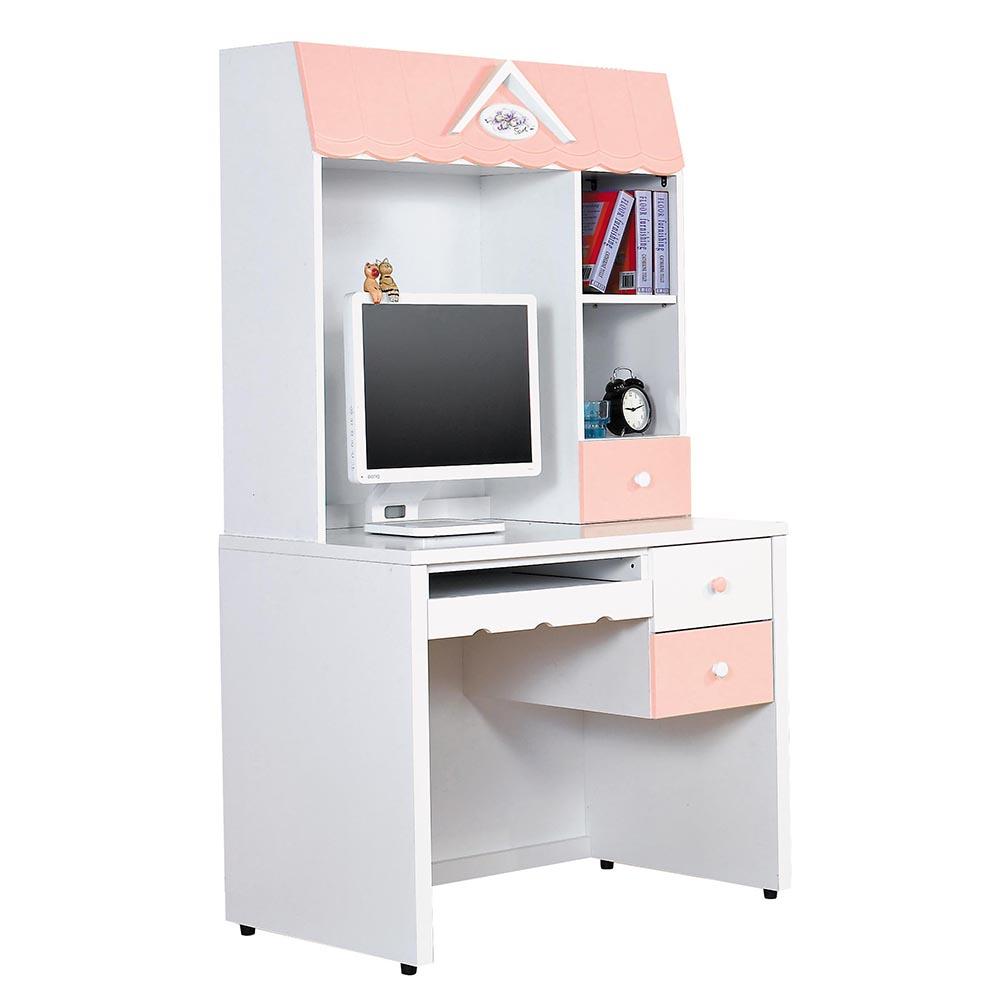 愛丁堡粉色電腦書桌