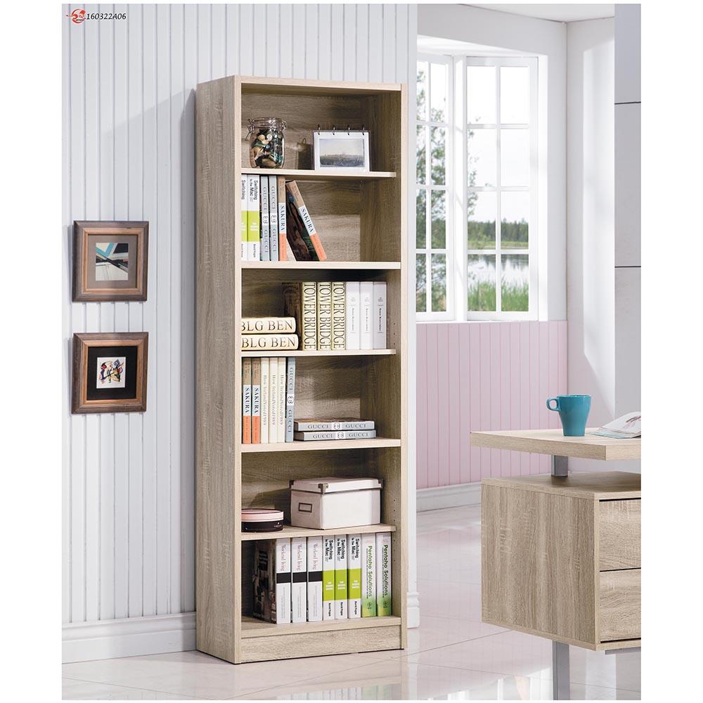 康迪仕淺木色六格高書櫃