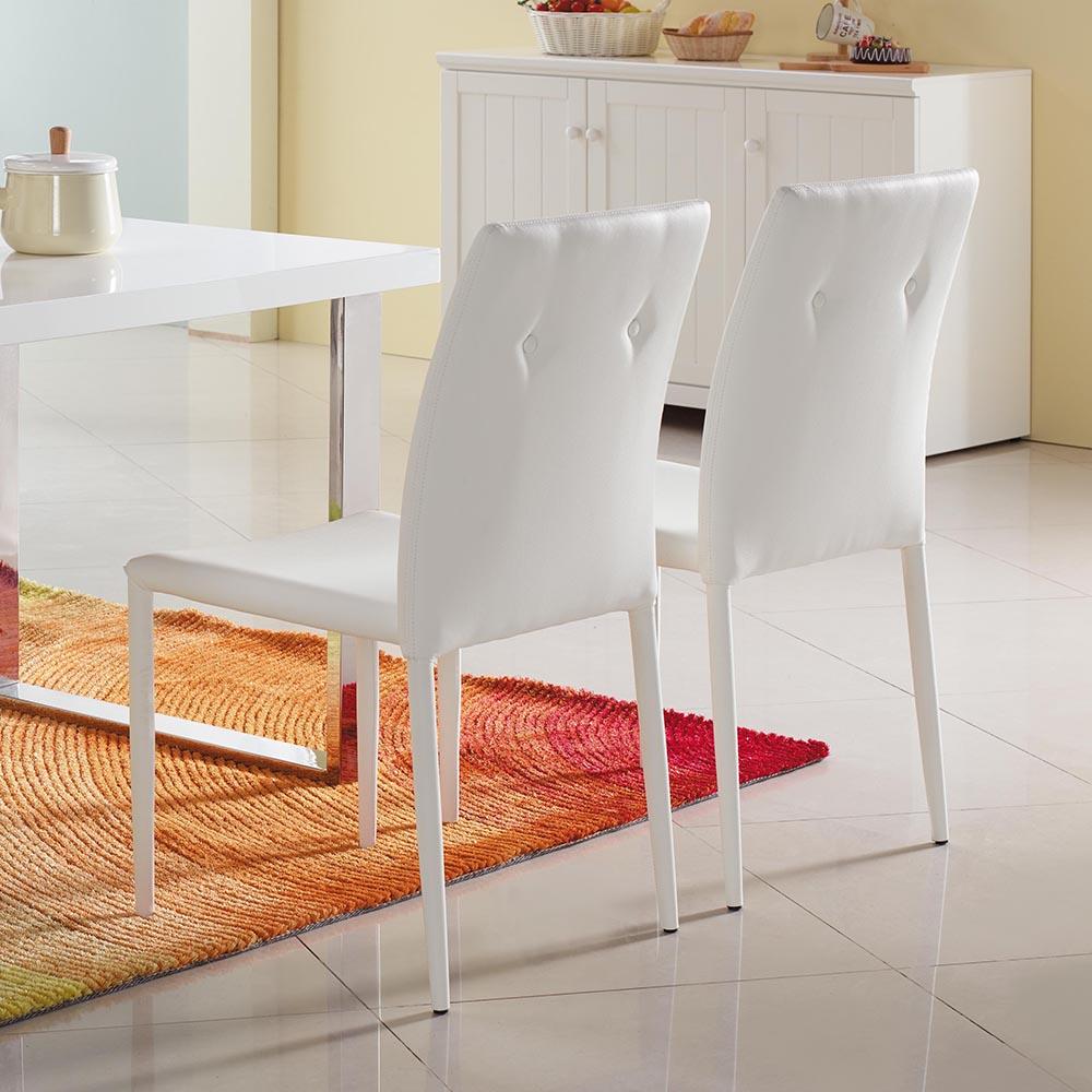 水晶晶白皮餐椅