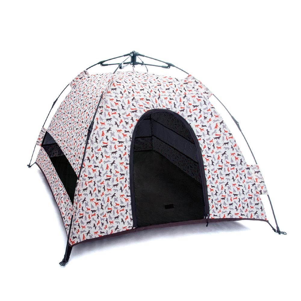 露營野趣-寵物專用帳篷-香草白