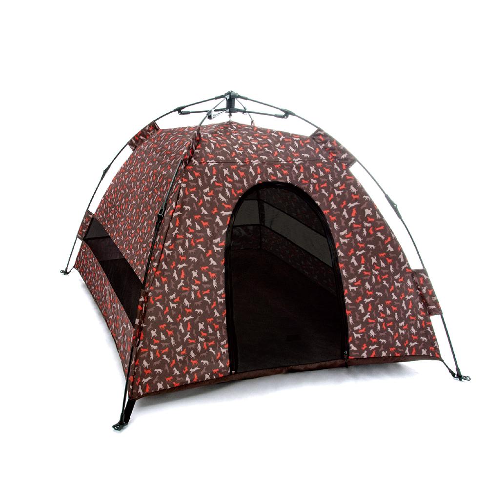 露營野趣-寵物專用帳篷-摩卡棕