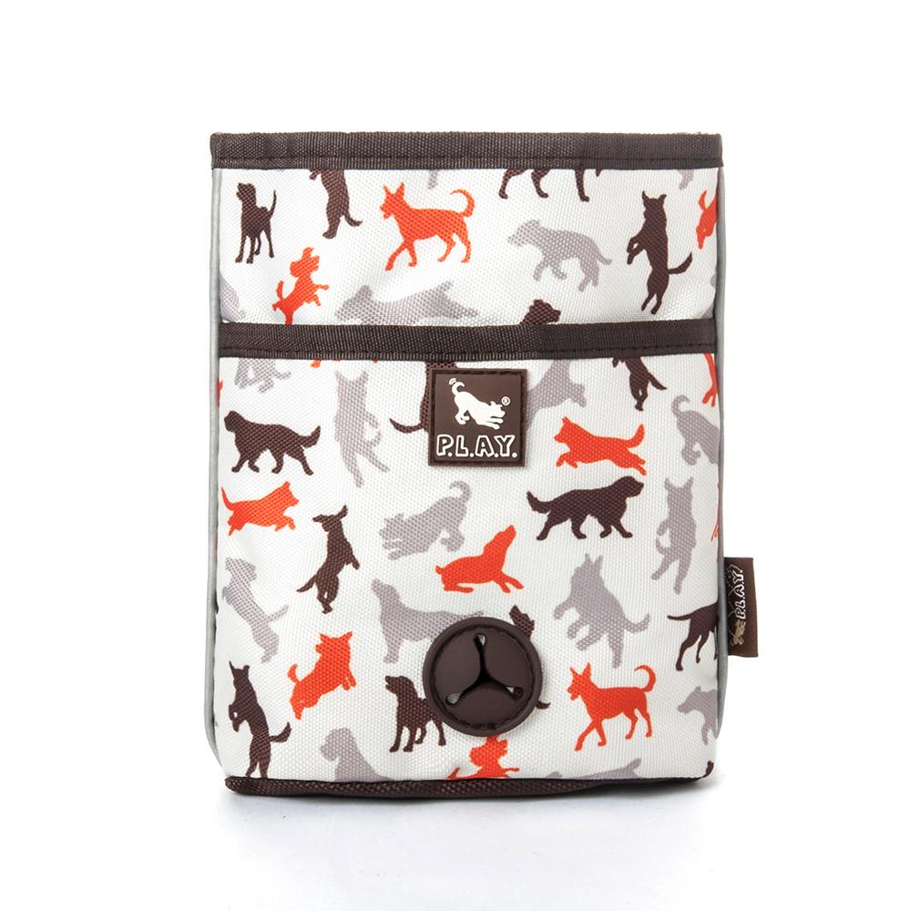 露營野趣-多功能寵物訓練袋-香草白