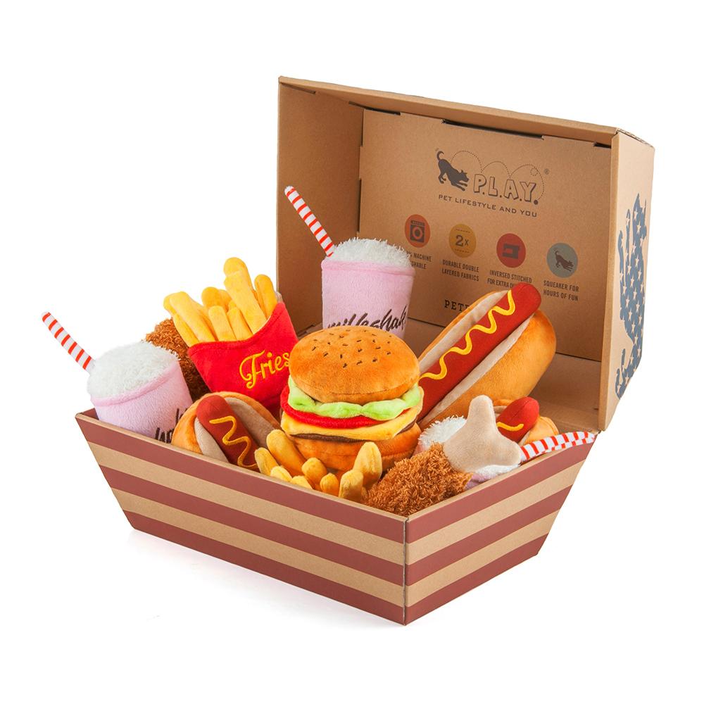 美式速食-15件全家餐(5款各3含展示盒)