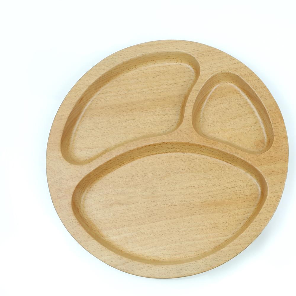 葛沃姿兒童餐盤 【山毛櫸】無拼接