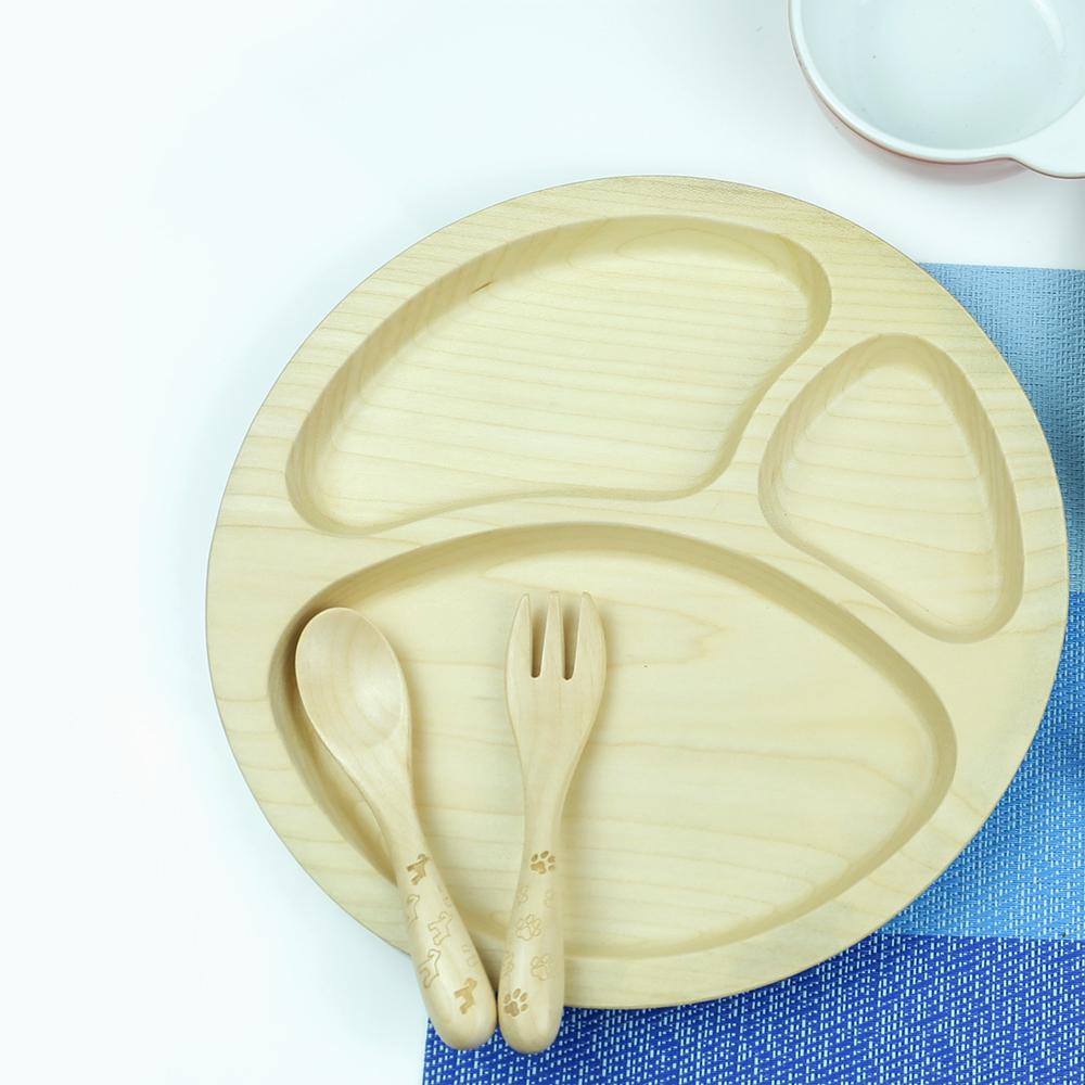 葛沃姿兒童餐盤 【楓木】無拼接
