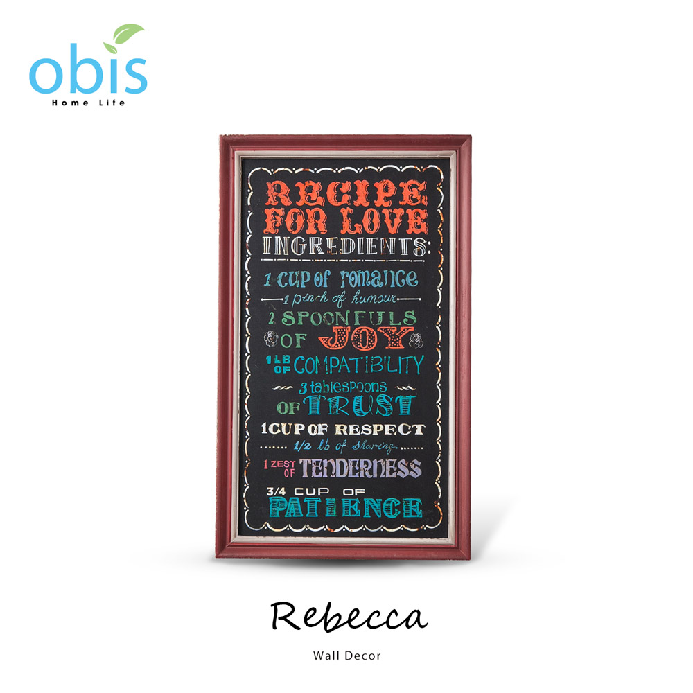 Rebecca紅色木框復古風字牌/預購
