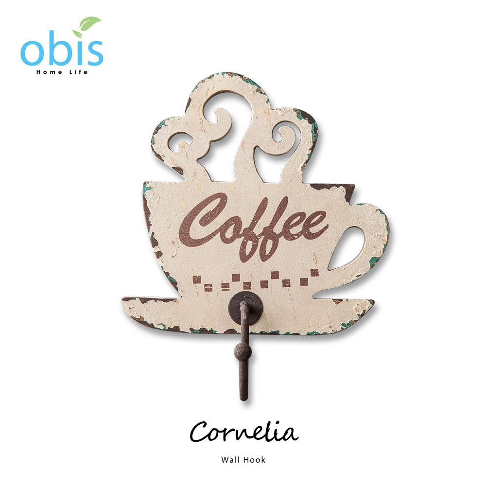 Cornelia咖啡杯造型復古風掛鉤/預購