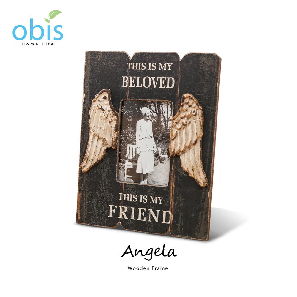 Angela天使之翼復古風木質相框/預購