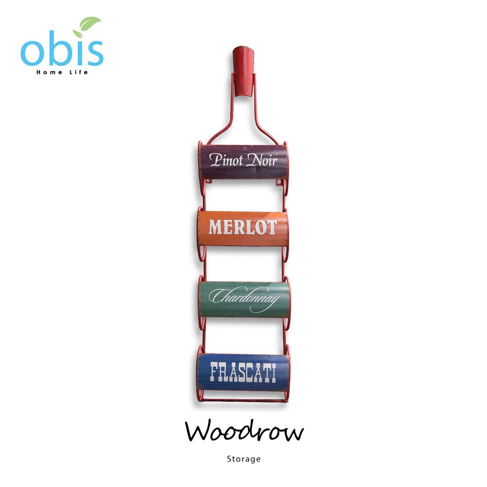 Woodrow酒瓶造型工業風酒架/預購