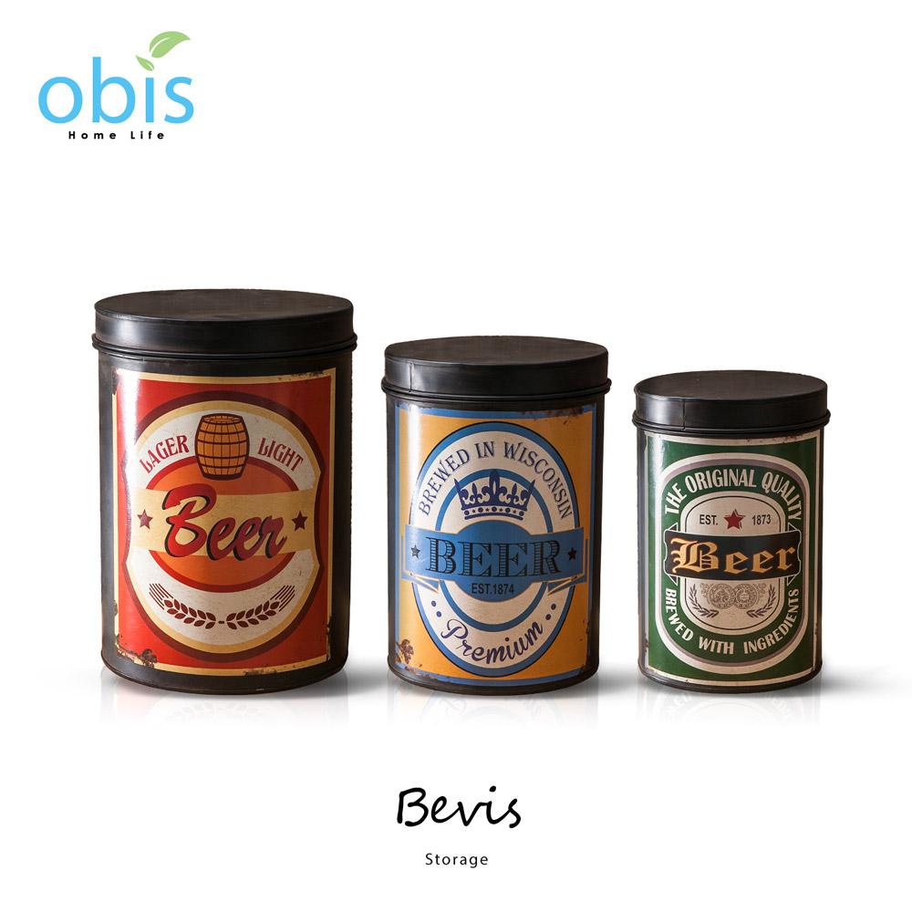 Bevis啤酒造型工業風收納筒組/預購