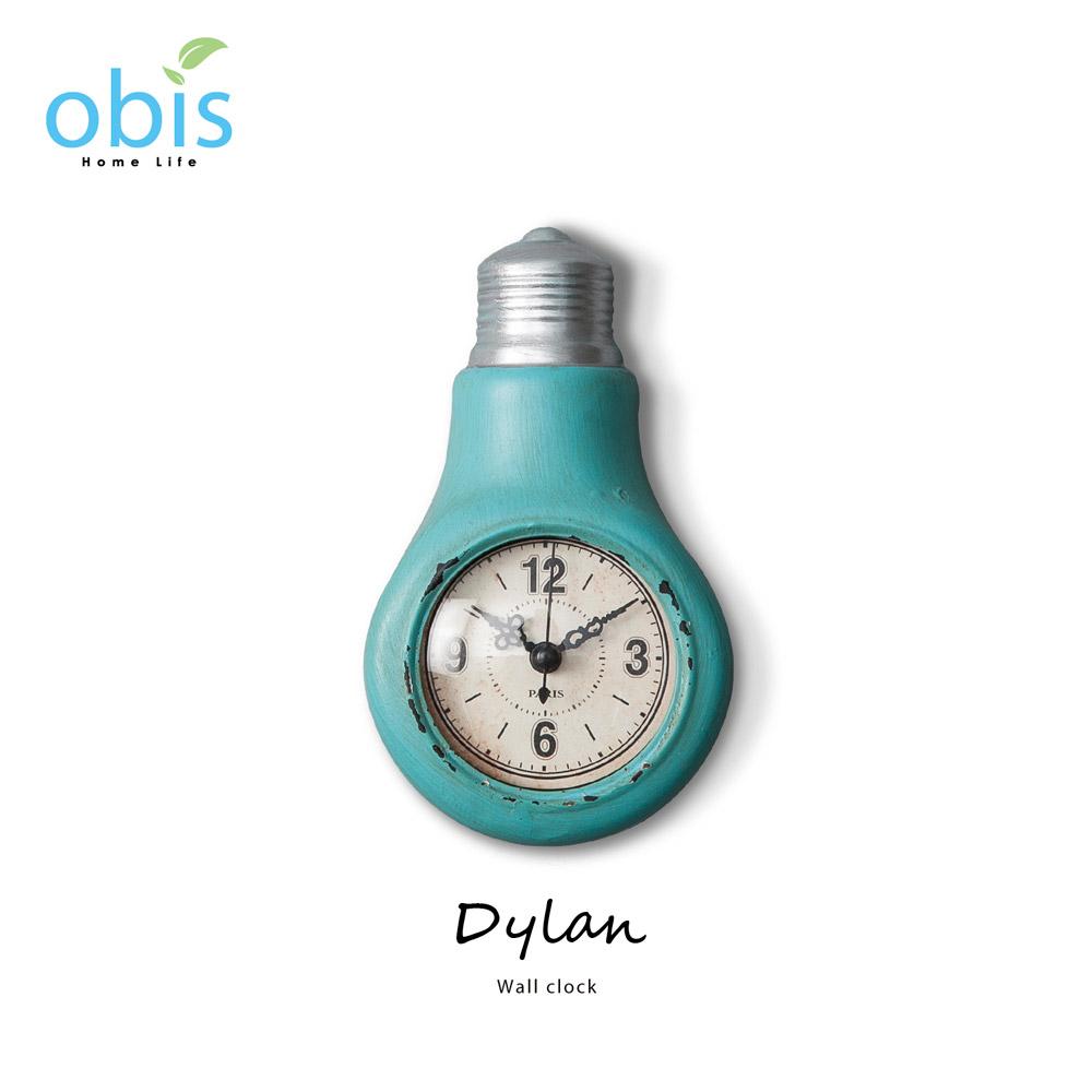 Dylan藍色燈泡工業風壁掛鐘/預購
