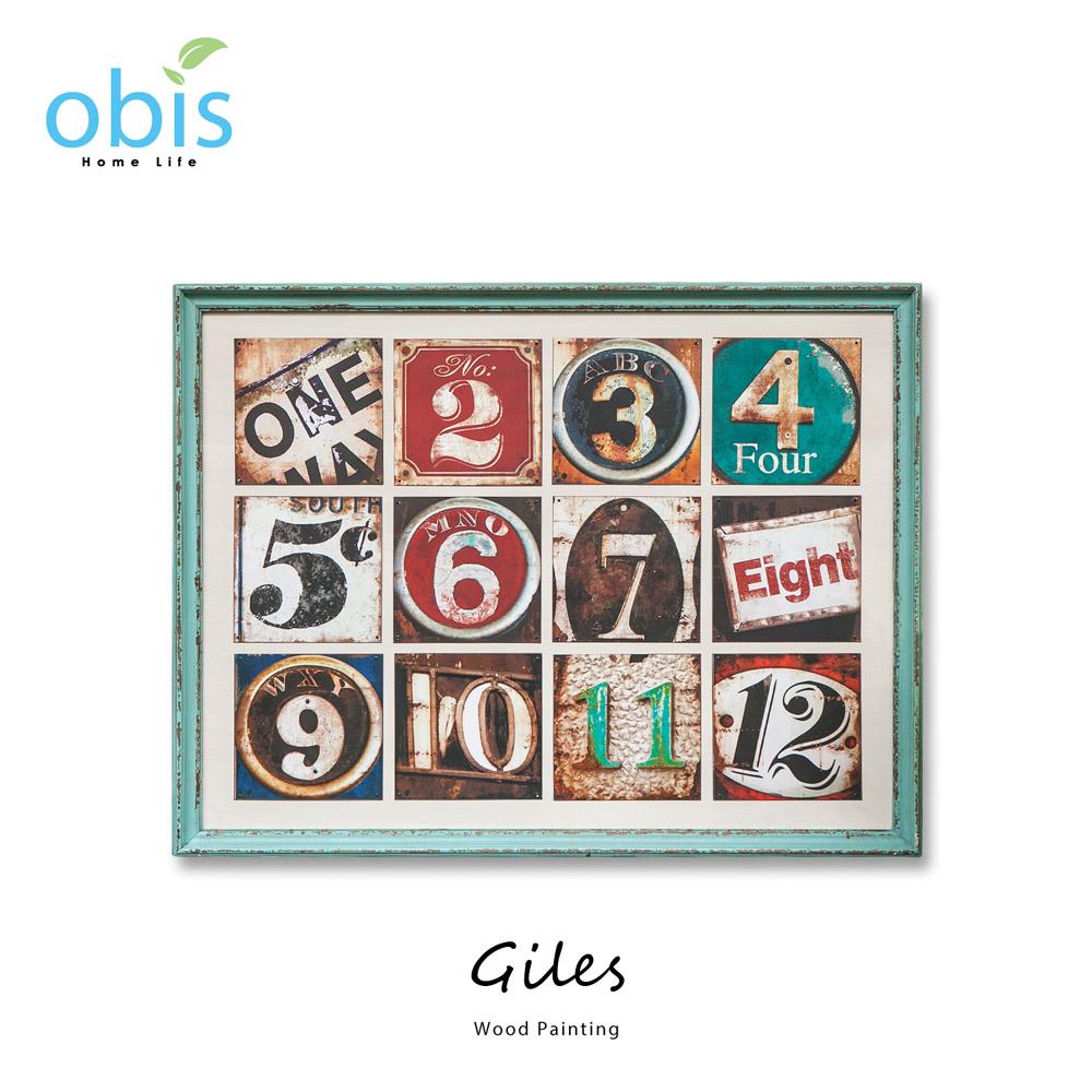 Giles數字遊戲工業風木板畫/預購